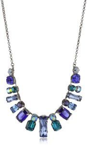 """Sorrelli """"Electric Blue"""" Crystal and Silver-Tone Necklace, 20.5"""""""
