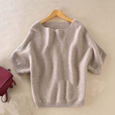 Seasons A word collar Cashmere Sweater New women loose big yards bat shirt was thin short-sleeved knit hedging wild Sweater2016