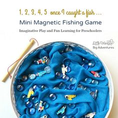 Make a Mini Magnetic Fishing Game to Play and Learn!