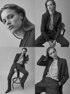 Nine looks in Paris Studio Portrait Photography, Fashion Photography Poses, Portrait Poses, Fashion Poses, Studio Portraits, Female Portrait, Girl Photography, Female Poses, Édito Vogue