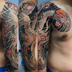 40 Japanese Crane Tattoo Designs For Men