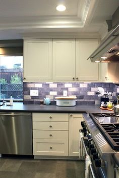 Purple Backsplash Design Ideas, Pictures, Remodel and Decor