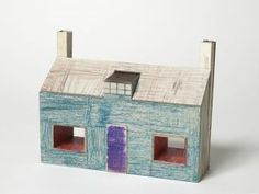 Jockum Nordström: Cardboard house sculpture from all i have learned and forgotten again.