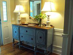 Light of the Home: My Louis Blue Chalk Paint Buffet