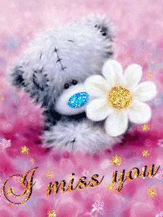 I Miss You miss you love you teddy bear across the miles missing you quote missing family and friends quotes
