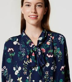 Thumbnail Image of Color Swatch 6643 Image of Valley Floral Bow Blouse