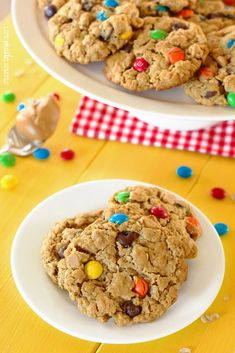 Gluten-Free Monster Cookies. These cookies are thick, chewy and flourless!