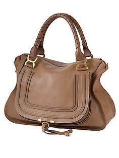 Chloe Marcie Handbag Designer Handbags Online Leather Satchel