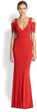 ABS by Allen Schwartz Deep V Gown on shopstyle.com