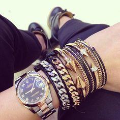 Rolex watch,vita fede arm candy.