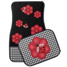 Black and Red Ladybug Car Mats Floor Mat