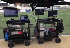 Double trouble setup. Full monitoring capabilities, full backup-copy capabilities, live-edit/assembly, sound-sync, colour-grade, etc.  Not cheap, each of those carts is about $4,000, but still damn sexy.