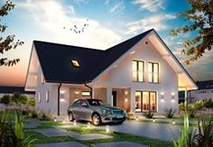 Dan-Wood House - A new concept in high quality timber frame homes. Top quality and unbeatable price: 'turn-key' timber framed detached houses. Timber Frame Homes, Dream House Exterior, Story House, House Goals, House Front, House In The Woods, Simple House, Home Fashion, Exterior Design