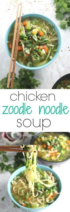 Chicken Zoodle Noodle Soup