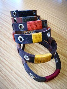 Leather bush bracelets.