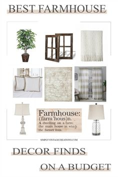I put together a list of some of my favorite farmhouse decor finds that will work for any room and any budget. Home decor can get expensive, which is why over the years I've been forced to discover some awesome farmhouse decor deals.     #farmhousedecor #homedecor #farmhouse #interiordesign