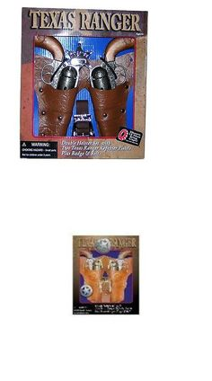 Diecast 152939: Parris Texas Ranger Double Holster Set With 2 Repeater Pistols, Badge, And Belt -> BUY IT NOW ONLY: $48.47 on eBay!
