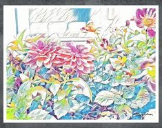 When you engage with my art, it is my hope that you will be overcome with feelings of joy and well-being, be reminded that beauty and joy can be found everywhere. #art #artwork #painting #homedecor #style #beauty #homedecoration Beautiful Paintings Of Nature, Paintings I Love, Nature Paintings, Artwork For Living Room, Bedroom Artwork, Modern Artwork, Modern Wall Art, Artwork Ideas, Watercolor Print