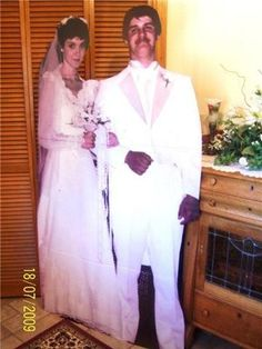 Life size cut out of my parents on their wedding day for their anniversary this year?!? THIS WOULD BE EPIC. Epic-ally creepy, but epic just the same lol.
