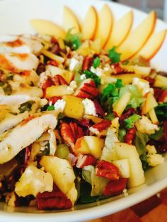 Peach and Grilled Chicken Salad with Sweet Vinaigrette
