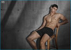 Trevor Signorino models mini print underwear from Simons' LE 31.