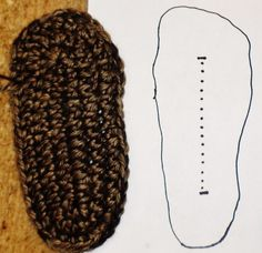 CROCHET SLIPPER BOOT SOLE TUTORIAL - PART 1