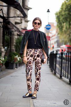 print pants. London.