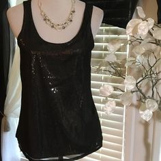 Express top Stunning top , fancy and chic looking, overlay polyester, back is cotton , excellent condition Express Tops Blouses