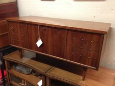 "Mid Century, 50's-60's Furniture; lid lifts open  $195 42""W x 17""D x 19""H"