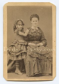 Odd CDV Photo of a Hairy Bearded Girl with Mother / by diabolus, $190.00