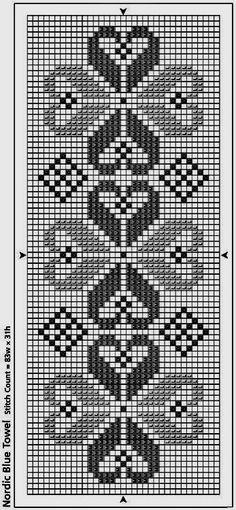 @nika Cross Stitch Heart, Cross Stitch Borders, Cross Stitch Designs, Cross Stitch Patterns, Crochet Stitches Chart, Knitting Charts, Crochet Patterns, Hardanger Embroidery, Cross Stitch Embroidery
