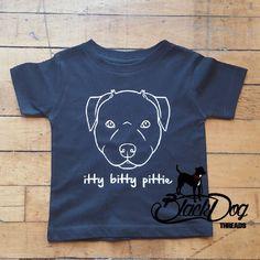 Pitbull Shirt for Kids, Pit Bull Shirt for kids, Pittie Shirt, Baby Pit Bull, Itty Bittie Pittie, Baby Pitbull, Pitbull Face by BlackDogThreads on Etsy https://www.etsy.com/listing/254464425/pitbull-shirt-for-kids-pit-bull-shirt