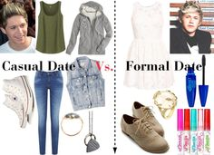 """""""Casual Date Vs. Formal Date With Niall"""" by kyliecraig ❤ liked on Polyvore"""