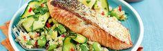 Crisp-Skinned Salmon With Vegetable Quinoa Recipe | Sainsbury's  | Sainsbury's Inspiration
