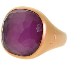 Preowned Pomellato Amethyst Rose Gold Gemstone Ring (3,855 NZD) ❤ liked on Polyvore featuring jewelry, rings, cocktail rings, red, gemstone cocktail rings, rose gold amethyst ring, red ring, rose gold gemstone rings and 18 karat gold ring