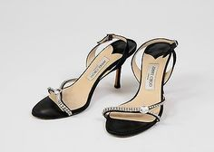 Jimmy-Choo-Shoes-Swarovski-Crystals-Slingback-Sandals-Heels-Size-40-9-5-10-Black