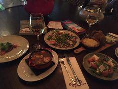 Shared dining @ bar