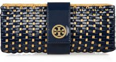 Tory Burch Rattan and faux patent-leather clutch on bagservant.co.uk, £240 Loving this one! So unique!