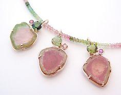 Micky Roof original Watermelon Tourmaline pendants