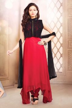 Look classy with Black and Red Faux Georgette and Net Readymade Suit Shop now @ http://zohraa.com/black-faux-georgette-readymade-suit-z1979p243-5216sl372324-24.html sku : Z1979P243-5216SL372324-24  Rs. 4,199 #suits   #designersuits   #suitsonline   #partywearsuits   #partywear