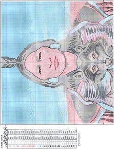 wolf shield native american cross stitch chart1