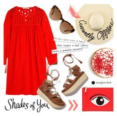 """""""Shades of You: Sunglass Hut Contest Entry"""" by alexandrazeres ❤ liked on Polyvore featuring Madewell, Eugenia Kim, Michael Kors, Kenzo, Stuart Weitzman, RedOutfit, shadesofyou and currentlyoffline"""