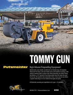 Tommy Gun A3 Print Ad | Putzmeister America