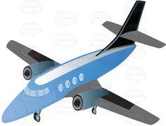 Blue Jet Airplane Commercial Passenger Airline #airline #airplane #airport #Boeing #commerical #engine #flying #jet #machine #passenger #PDF #tourism #transportation #travel #vector-graphics #vectors #vectortoons #vectortoons.com #wing
