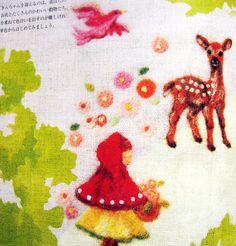 9784309281841 wool felt embroidery japanese craft book