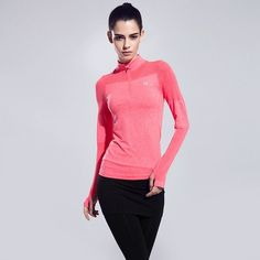 Dry Quick Gym Yoga Jackets High Elastic Tights Women's Fitness Jackets Running Long Sleeve Zipper Jackets Fitness Women Clothes