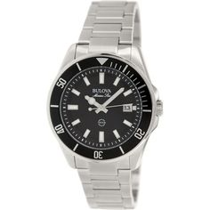 Bulova Men's Sport 98B203 Black Stainless-Steel Quartz Watch