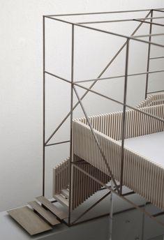 Modellarchitektur - Modellarchitektur – von www. Wood Architecture, Concept Architecture, Architecture Details, Architecture Models, Structural Model, Interior Design Presentation, Landscape Model, Arch Model, Brick And Stone