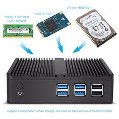 X30 Fanless Mini Desktop PC Intel Celeron 3965U 2.20GHz 4K Support HDMI VGA 300M WiFi Windows 10 minipc DDR4 RAM HD Graphics 610  Price: 146.99 & FREE Shipping #computers #shopping #electronics #home #garden #LED #mobiles #rc #security #toys #bargain #coolstuff |#headphones #bluetooth #gifts #xmas #happybirthday #fun Ddr4 Ram, Hdd, Windows 10, Mobiles, Wifi, Computers, Bluetooth, Desktop, Headphones