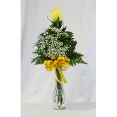 single yellow rose in bud vase - Google Search Bud Vases, Yellow Roses, Poem, Glass Vase, Google Search, Canvas, Projects, Home Decor, Tela